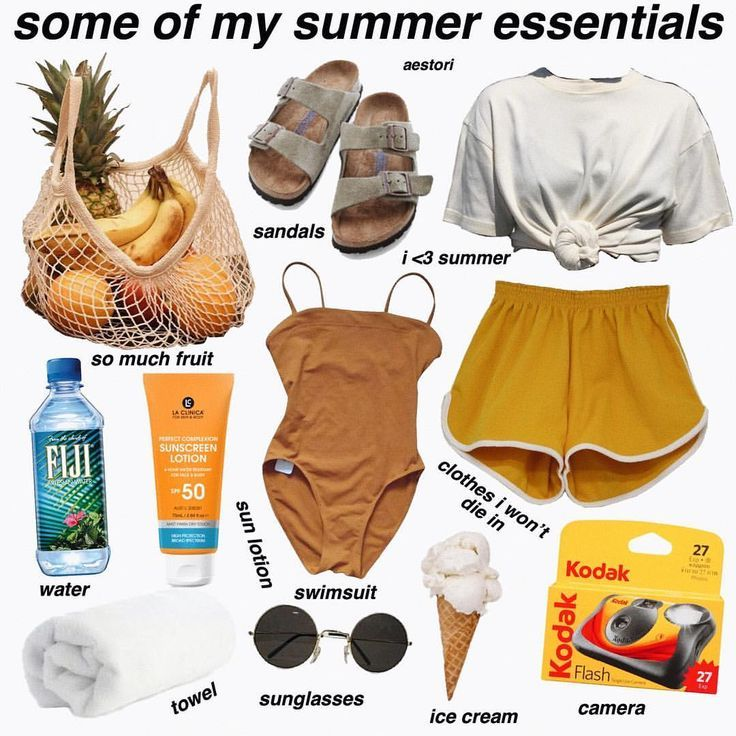 what are some of your summer essentials? - follow ... - #essentials #follow #Summer #collageboard