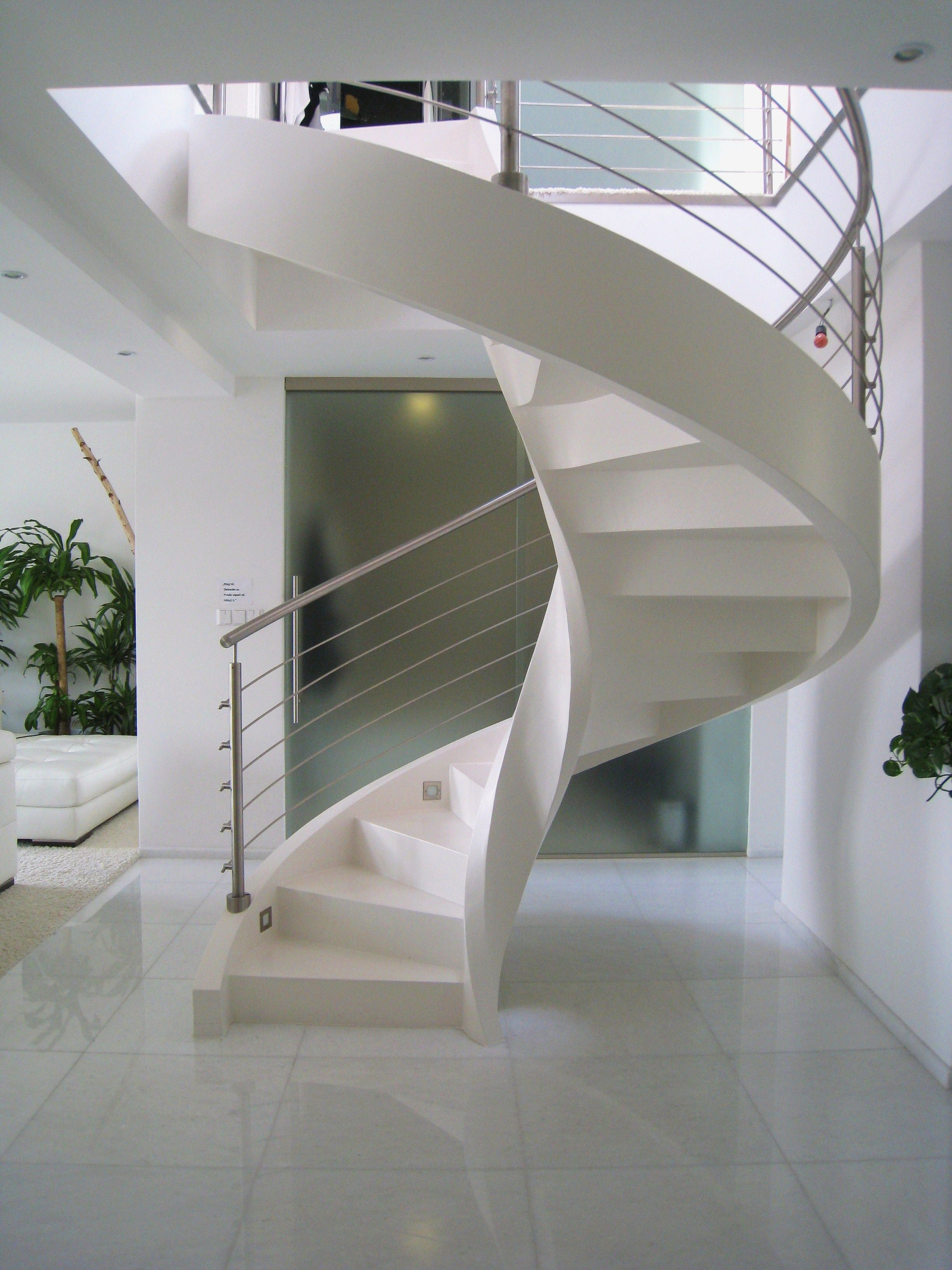 Concrete stairs dna design czech republic