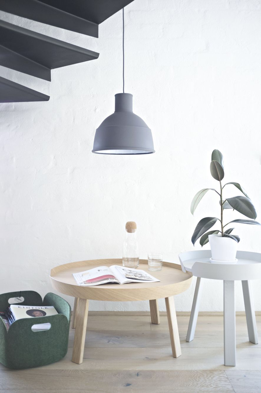 Muuto around tables, restore basket and unfold pendant.