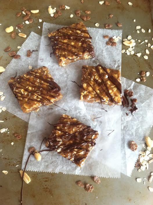 No Bake PB Oat Nut Bars Vegan Gluten Free