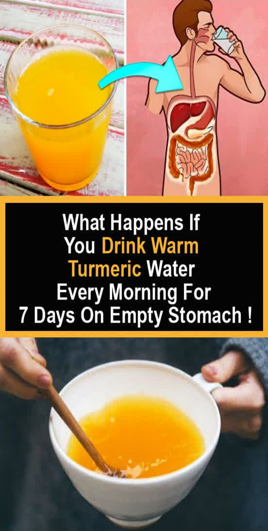 What Happens If you Drink Warm Turmeric Water Every Morning For 7 Days On…