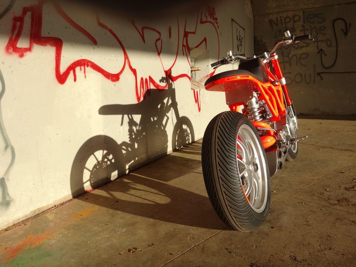 ducati 'hyper scrambler' custom motorcycle designed and built