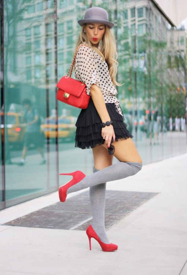 How to Wear Knee High Socks: 19 Stylish Outfit Ideas - How To Wear Knee High Socks: 19 Stylish Outfit Ideas Ropa