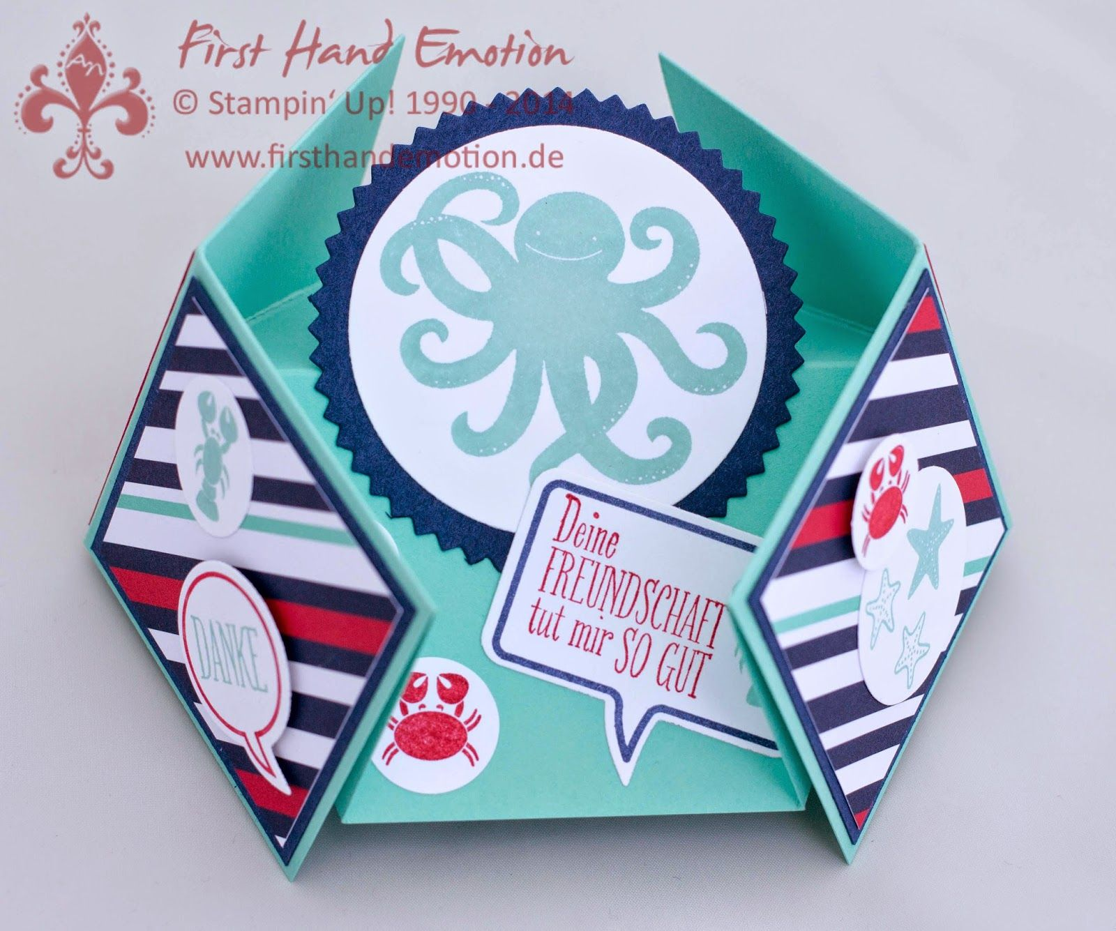 Stampin' Up! by First Hand Emotion: Diamantgefaltete Sea-Street-Krake