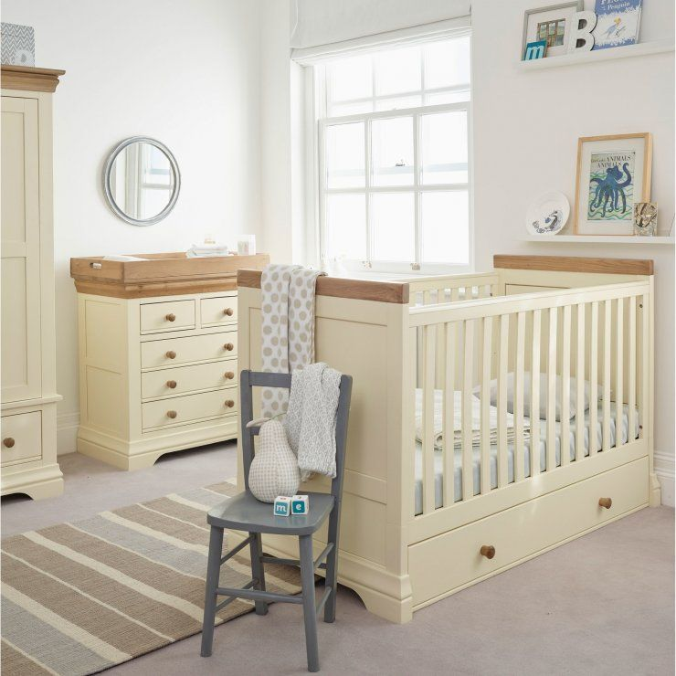 Country Cottage Natural Oak And Painted Cot Bed Nursery