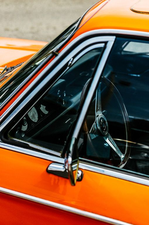 Orange Vintage Car