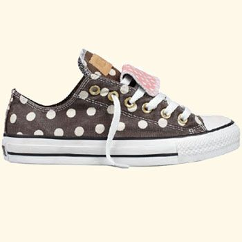 More polka dots!!! Converse All Star Double Tongue Oxford