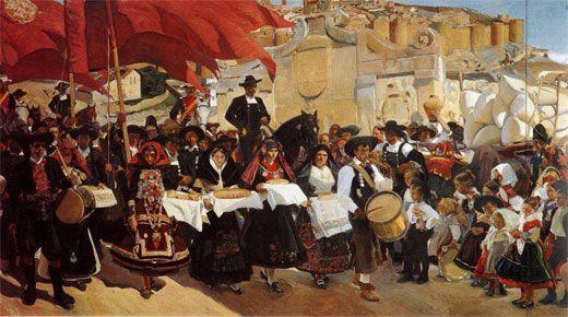 Joaquín Sorolla Bastida (1863-1923). Castilla, La Fiesta del Pan. 1913. Óleo sobre lienzo. The Hispanic Society of America, New York, USA.