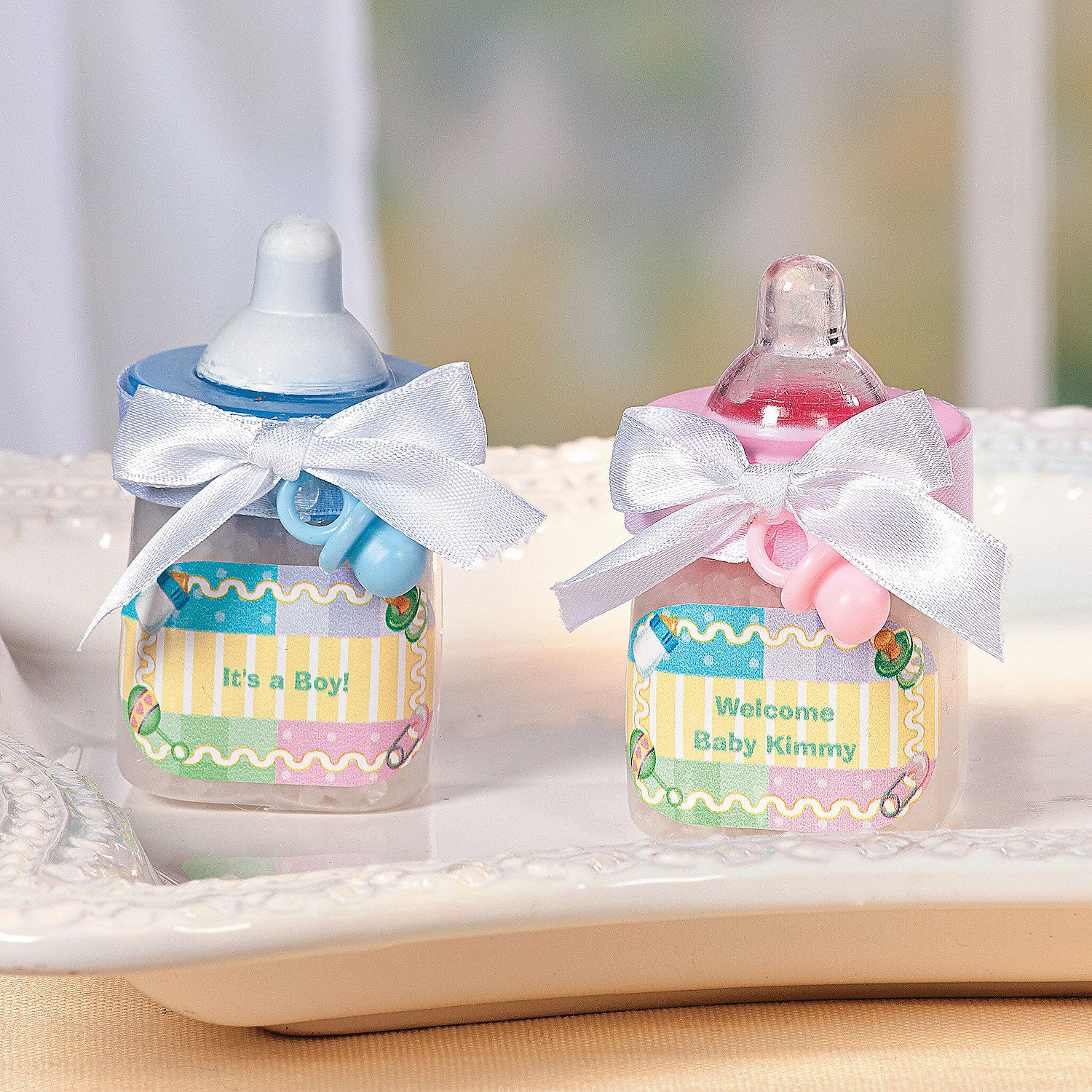 Lovely Baby Bottle Favors   OrientalTrading.com