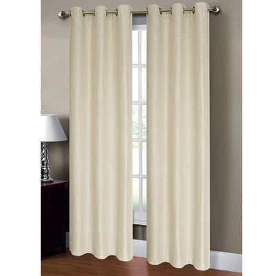 Window Elements Savannah Curtain Panels Color: Ivory