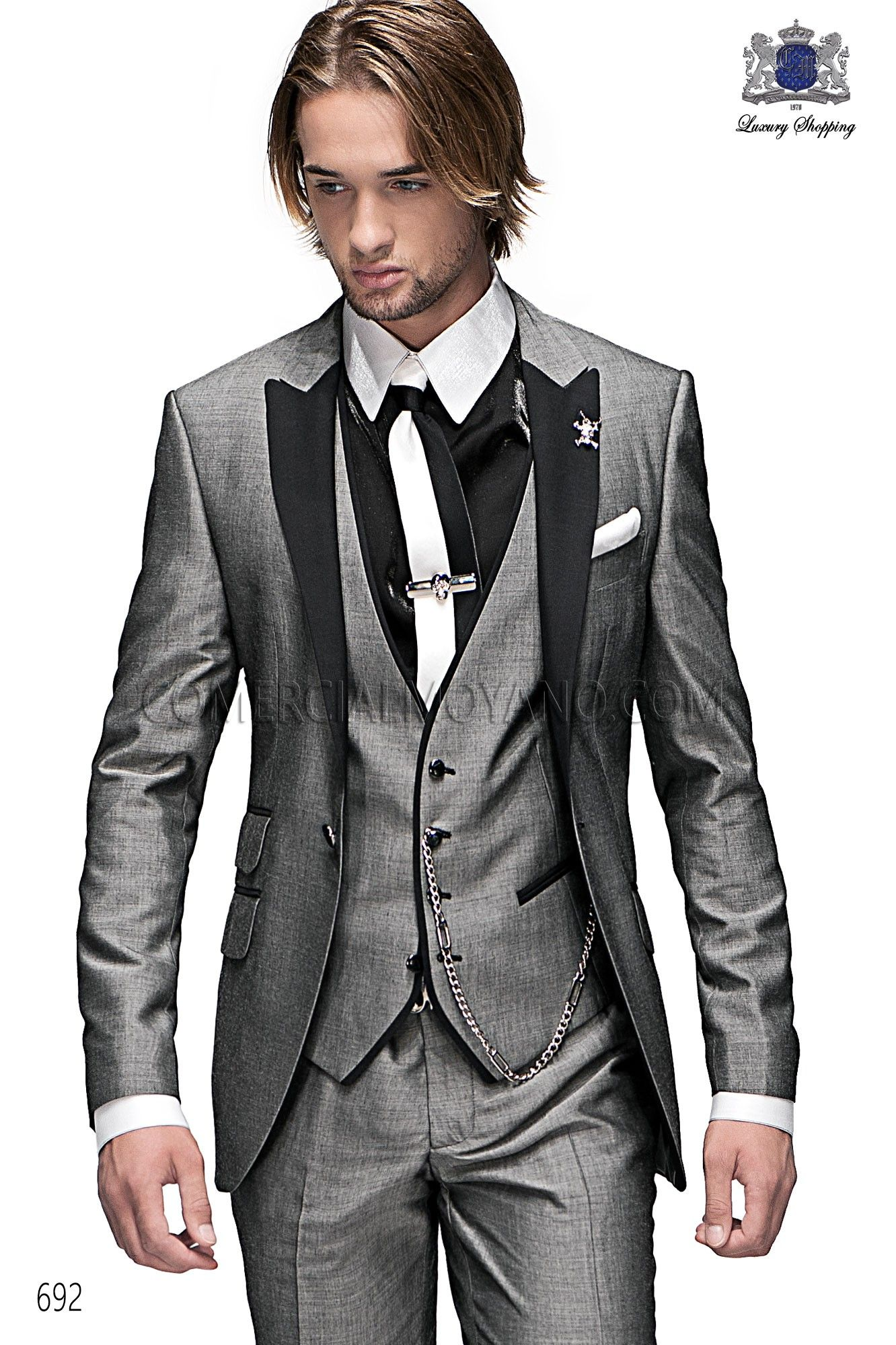 men suits fashion | Emotion gray men wedding suit model 692 ...