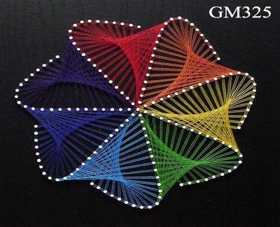 Espiral Patrones De Arte Clavos E Hilos Arte Con Hilos Y Clavos