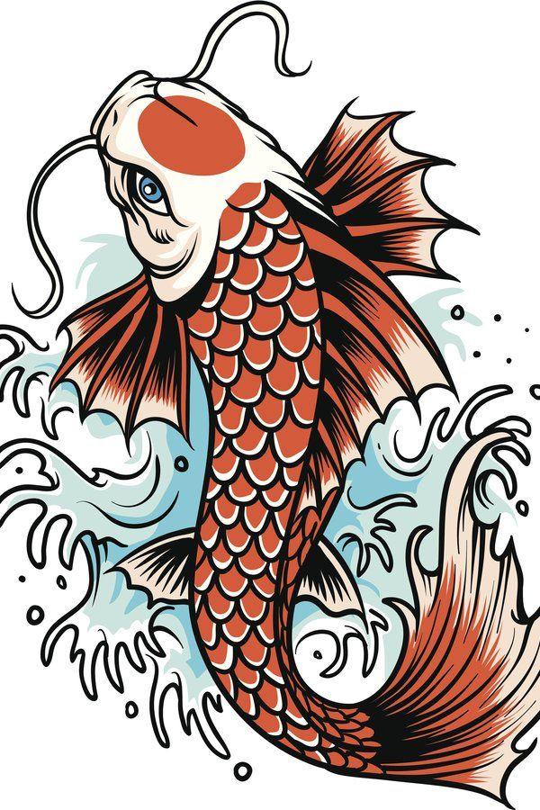 Epingle Par Craig Sur Tattoos Tatouage Poissons Koi Dessin De