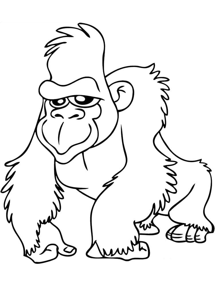 Gorilla Coloring Pages Free The Gorilla Is The Second Species After The Chimpanzee Is Closest To Hu Animal Coloring Pages Coloring Pages Animal Coloring Books