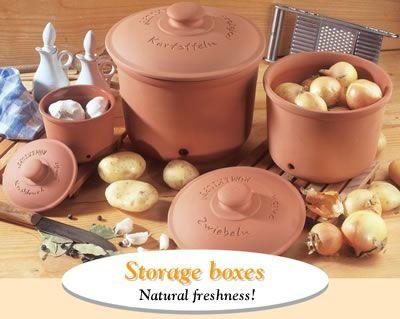 Onion potato and garlic storage containers Kitchen Pinterest