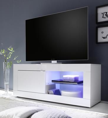 Urbino Collection Small Tv Unit With Optional Led Spot Light Gloss White Finish Small Tv Unit Small Tv Stand Tv Unit
