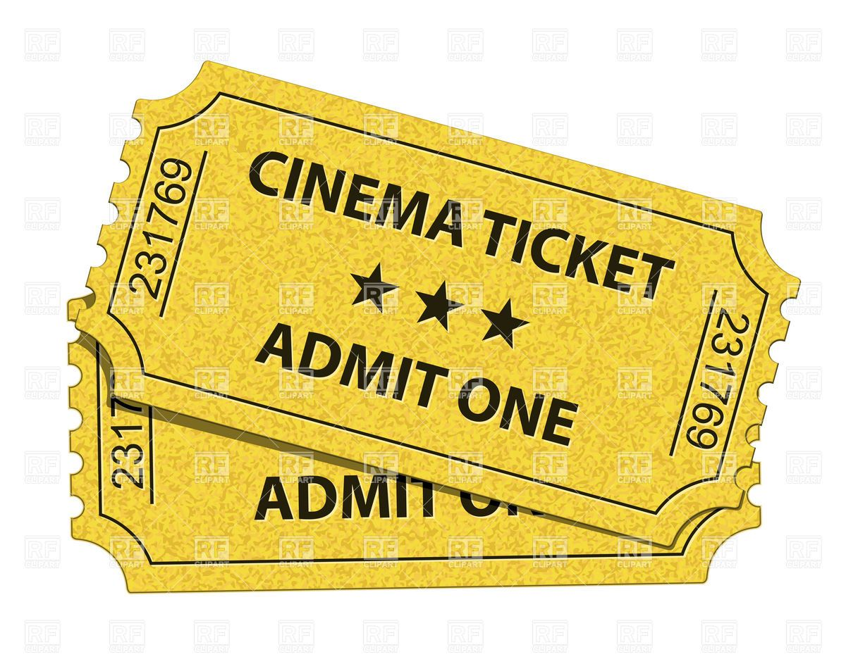 Movie Ticket cinema tickets, download royalty-free vector clipart ...