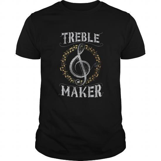 Cool Treble Maker Funny Quote Pun Bass Note Keys TShirt Shirts & Tees