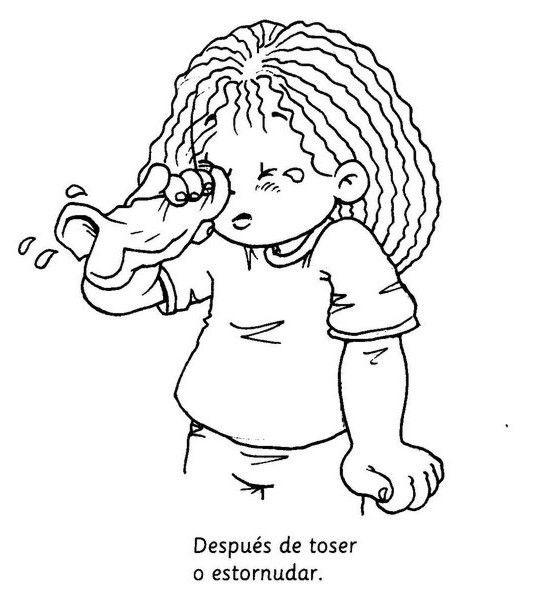 Dibujos Para Colorear Para Enseñar Higiene Personal En Los