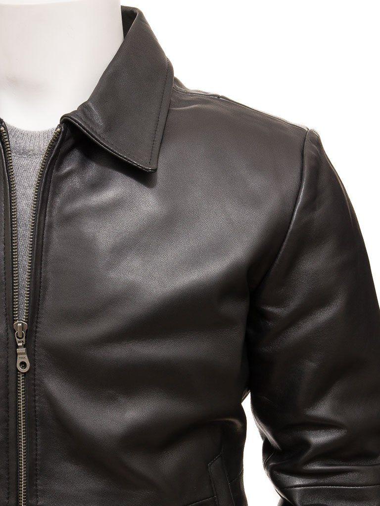 Men S Classic Shirt Collar Leather Bomber Jacket In 2021 Leather Bomber Jacket Brown Leather Bomber Jacket Collar Shirt Men [ 1024 x 768 Pixel ]