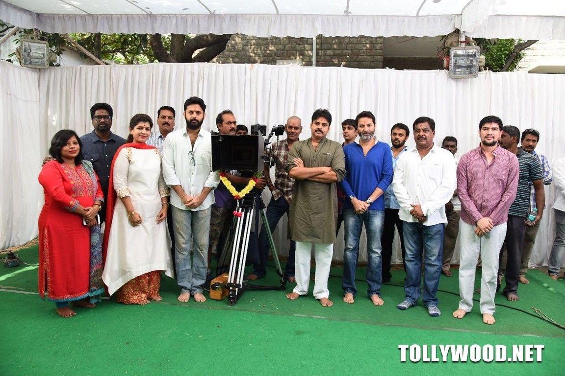 Nithin Pawan Kalyan New Movie Opening Stills