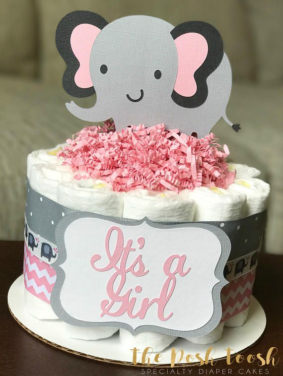 Pink Elephant Centerpiece Sticks DIY Baby Girl Its A Girl Table Decorations Pink Little Peanut Cutouts For Pink Elephant Theme Baby Shower Birthday Party Supplies Set of 24