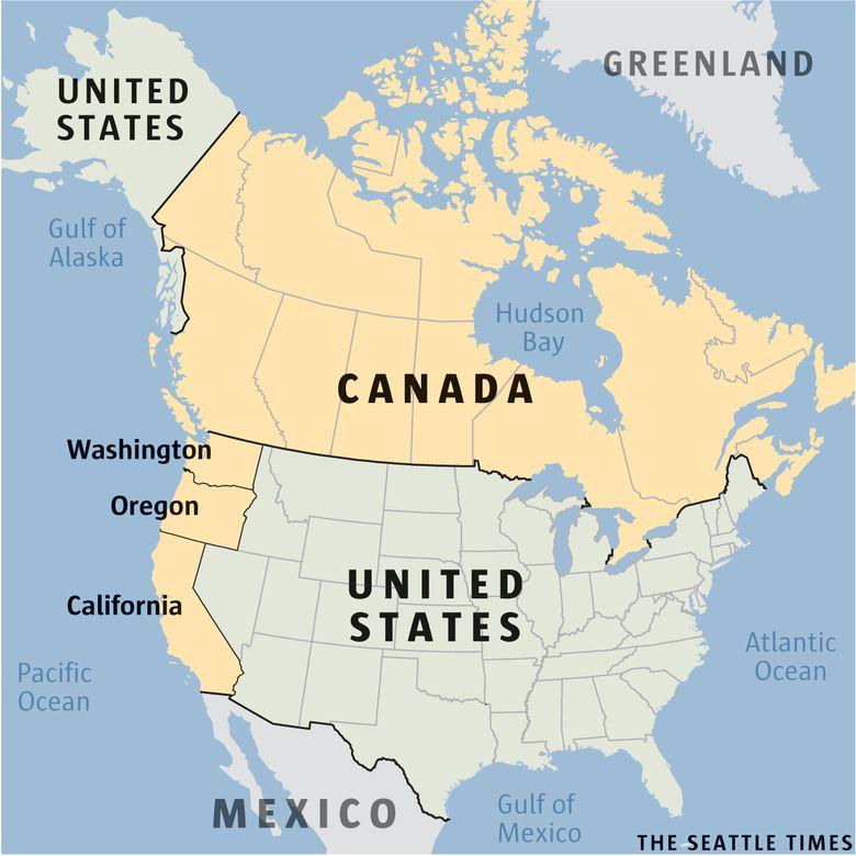 Should California Oregon And Washington Join Canada Calexit Talk Envelops West Coast The Seattle Times Seattle News Gulf Of Alaska Canada