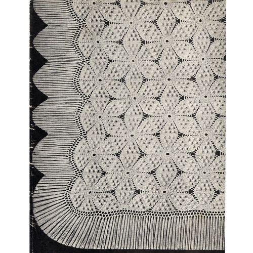 Swedish Popcorn Stitch Crochet Bedspread Pattern Thread Crochet