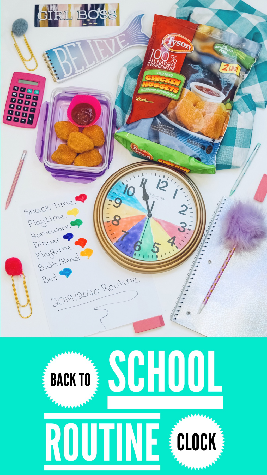 Back To School Routine Clock With Images