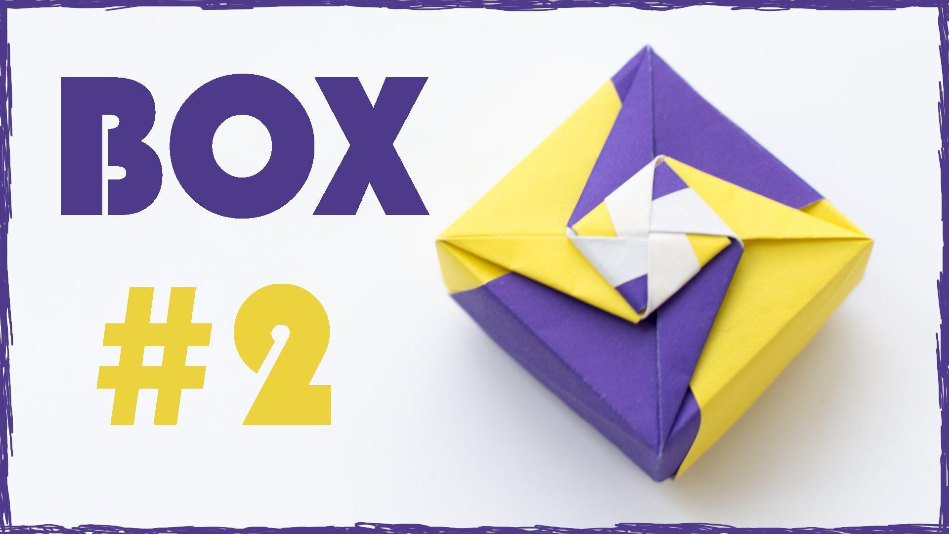 Коробочка оригами. Коробочка из бумаги своими руками. #2