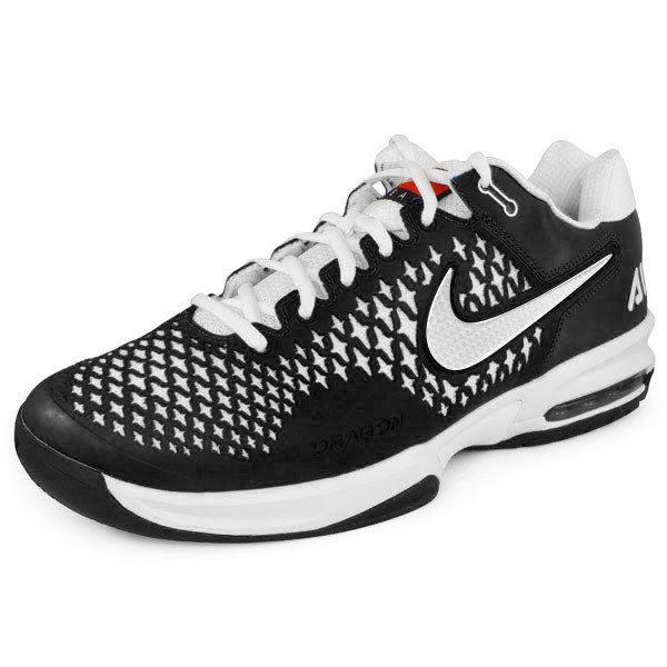 eaf470612ac2 Men`s Air Max Cage Tennis Shoes Black Metallic Silver