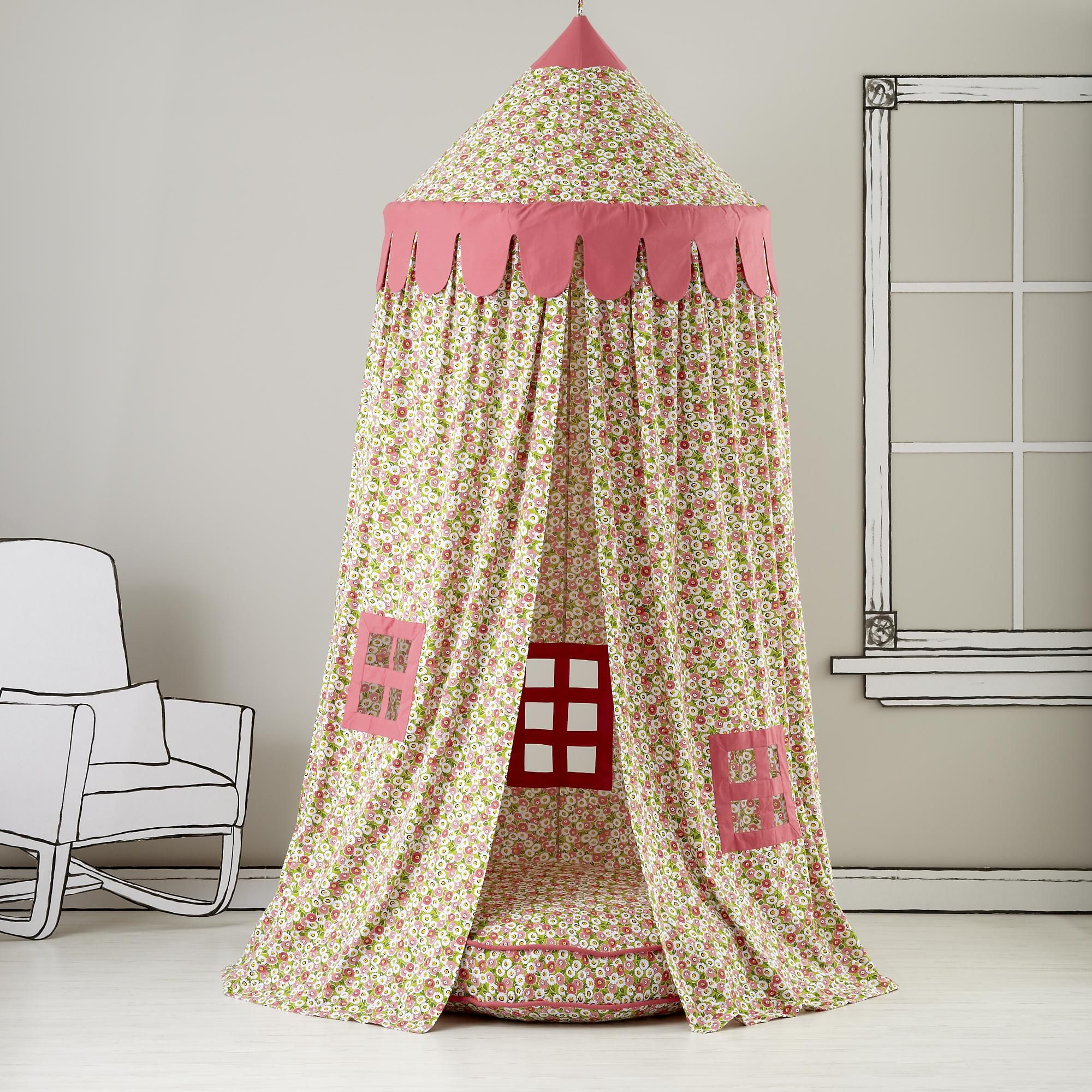 Kids Canopy Floral Play Circus Tent in Playhomes u0026 Tents & Kids Canopy: Floral Play Circus Tent in Playhomes u0026 Tents ...