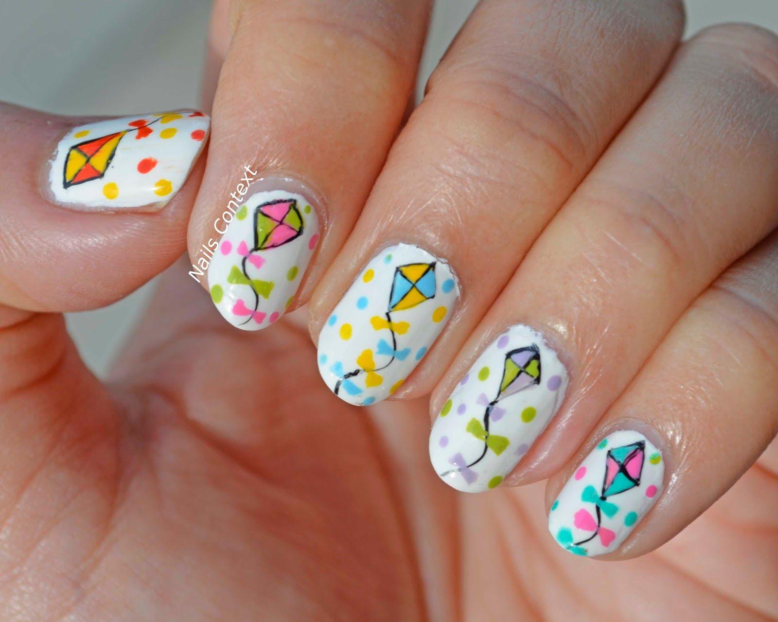 kite nails for makar Sankranti by @nailscontext #notd #nails ...