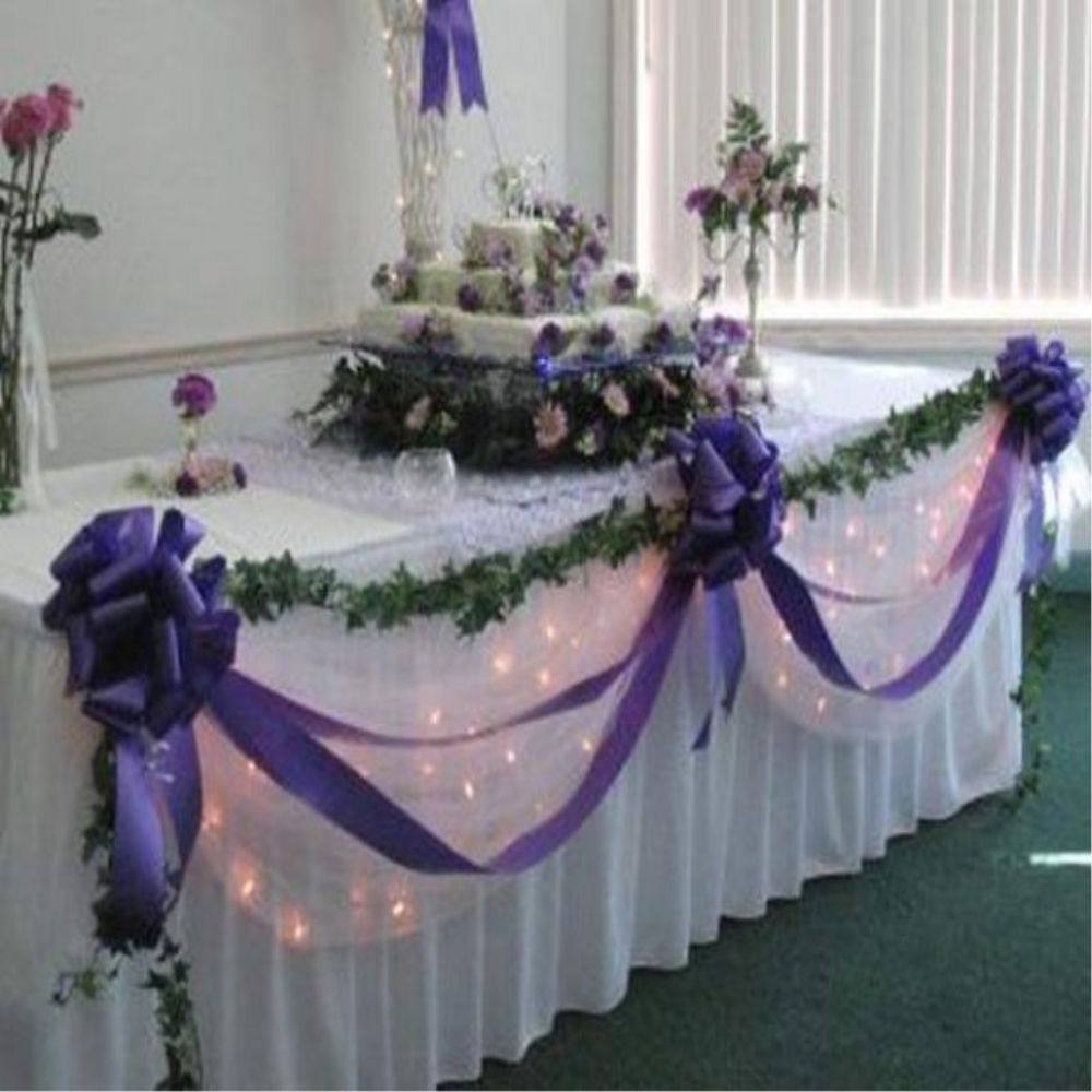 Wedding top table decoration kit diy bows swags all colours wedding top table decoration kit bows swags all colours personalised junglespirit Choice Image