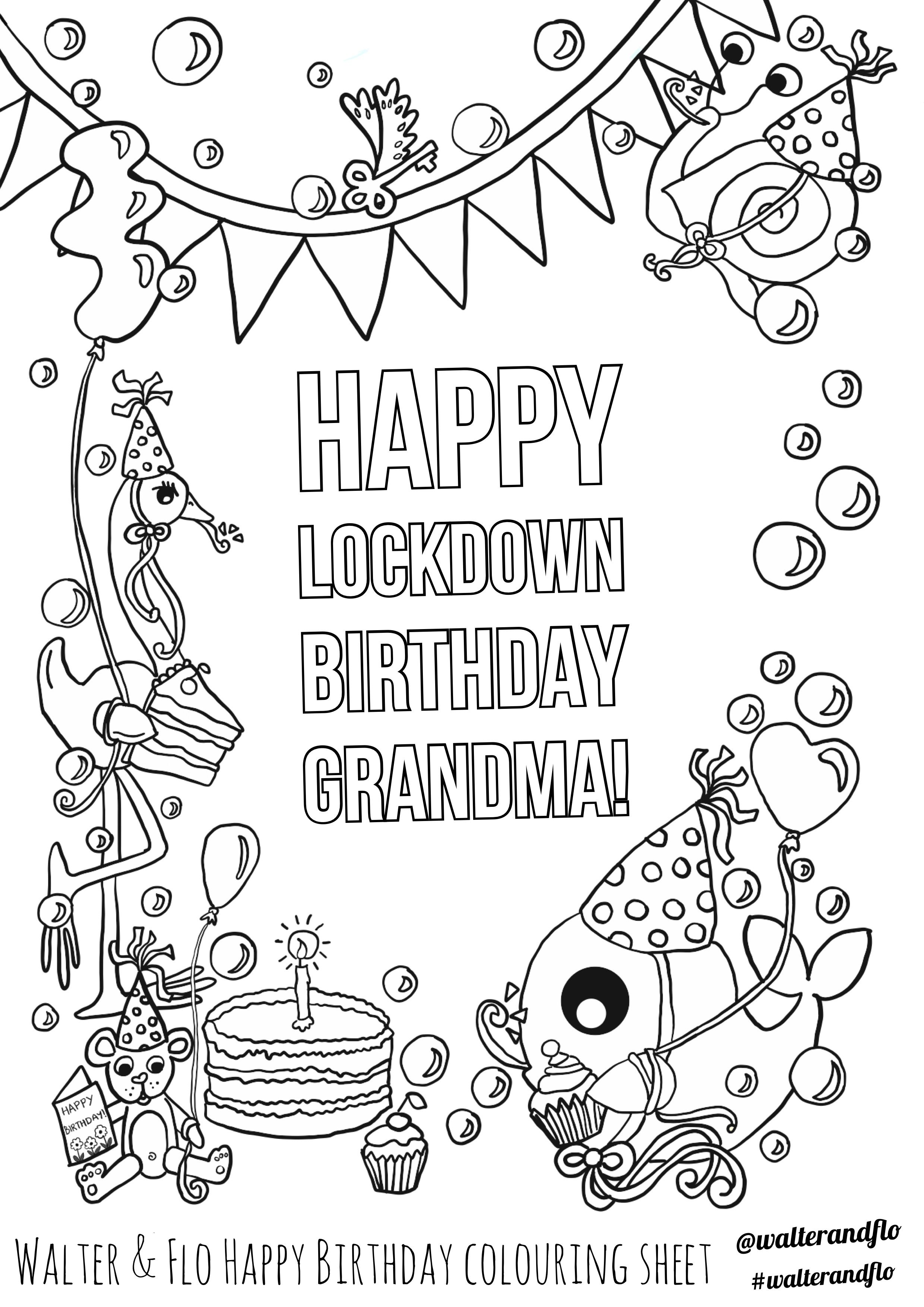 Happy lockdown birthday grandma in 2020 | Birthday ...