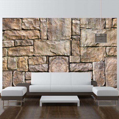 Stone Puzzle 2 45m X 350cm Wallpaper East Urban Home Stone Wallpaper Home Wall Decor 3d Stone Wallpaper