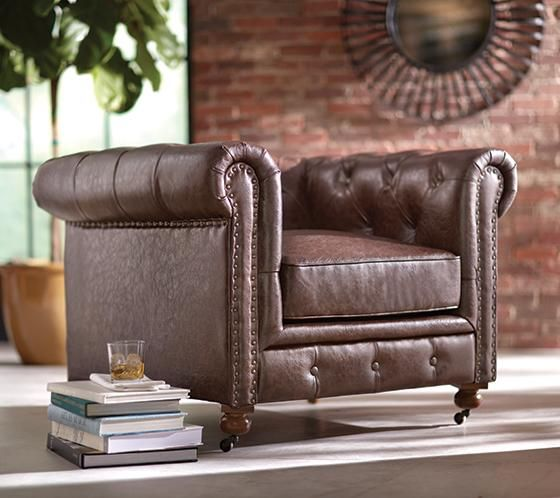 Amazing RH Knockoff Of Kensington Leather Chair
