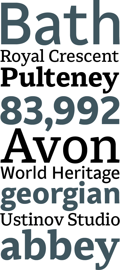 A New Type Family For Bath | The FontFeed