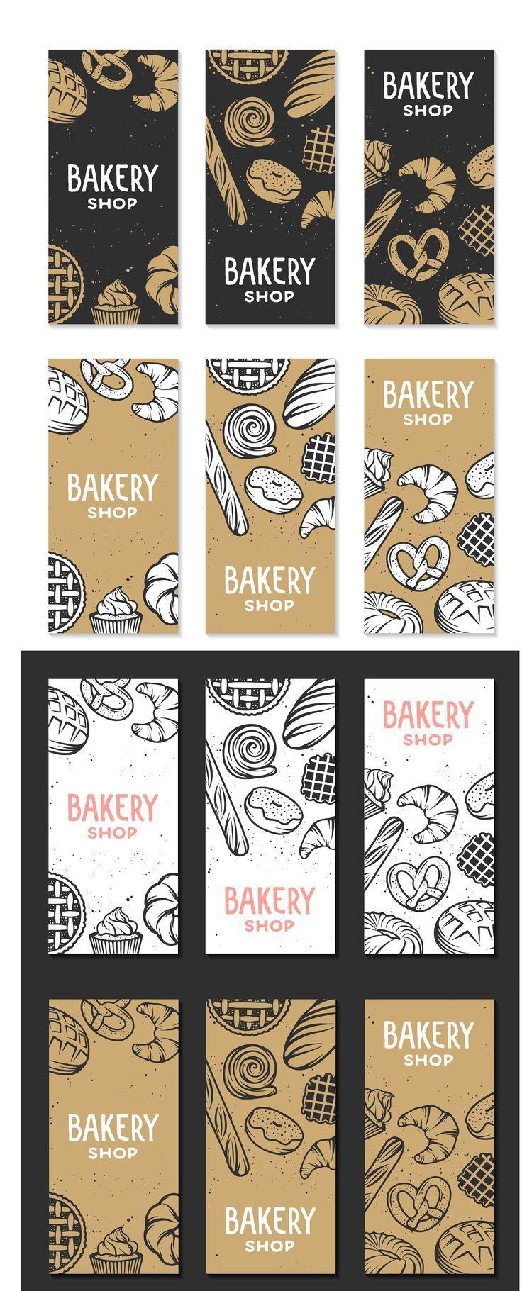 Set Bäckerei Logos und Elemente EPS Layered Poster