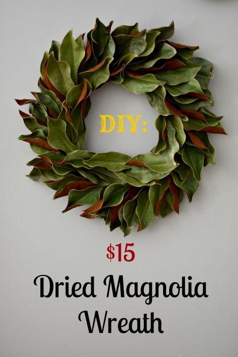 Photo of DIY: $ 15 getrockneter Magnolienkranz