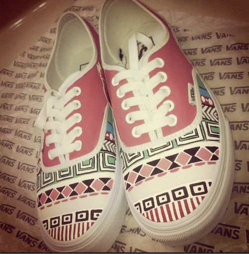 Tribal Pattern Vans. by Creativityism on Etsy
