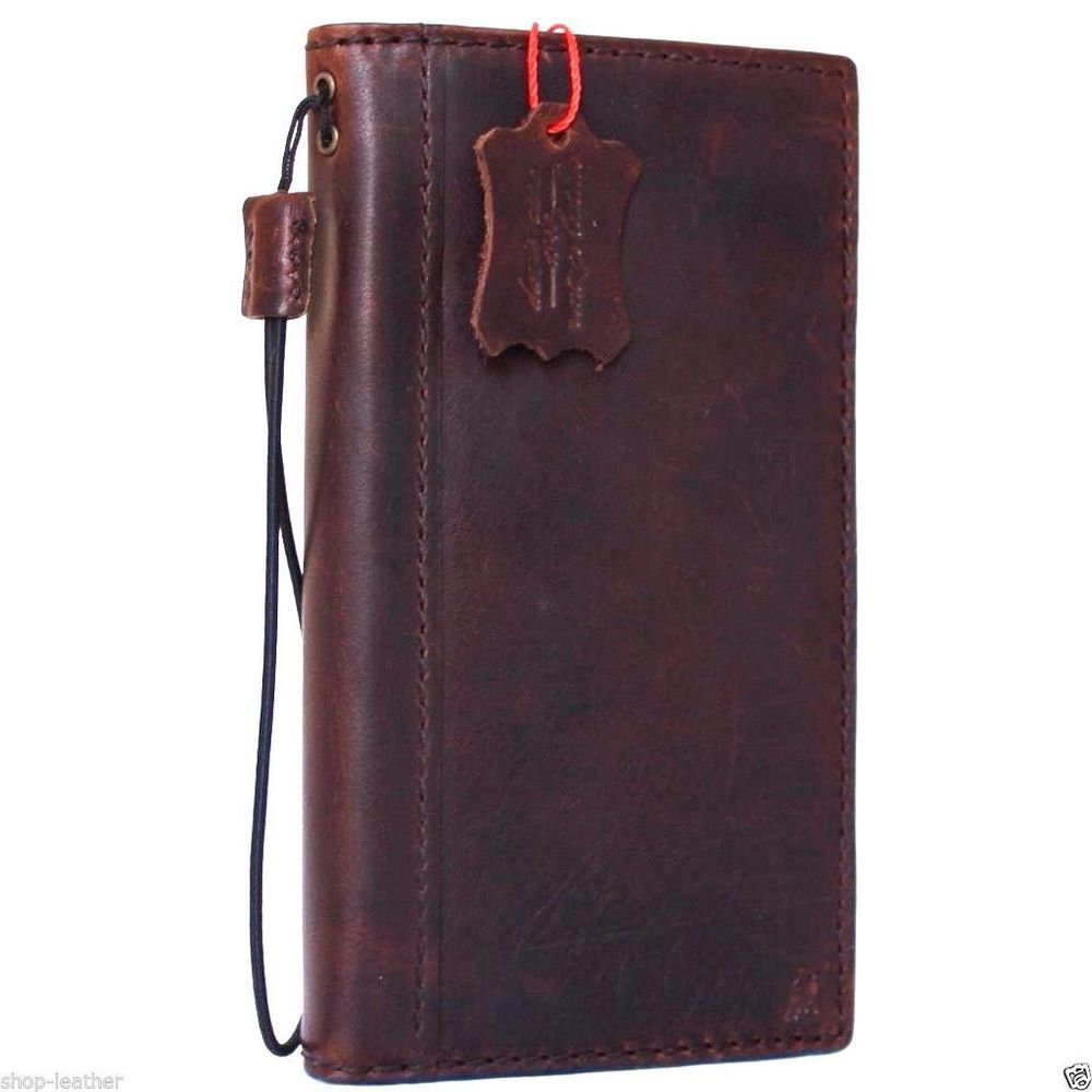 genuine oil leather hard Case fo apple iphone 6 plus book wallet slim cover 6s + #daviscase