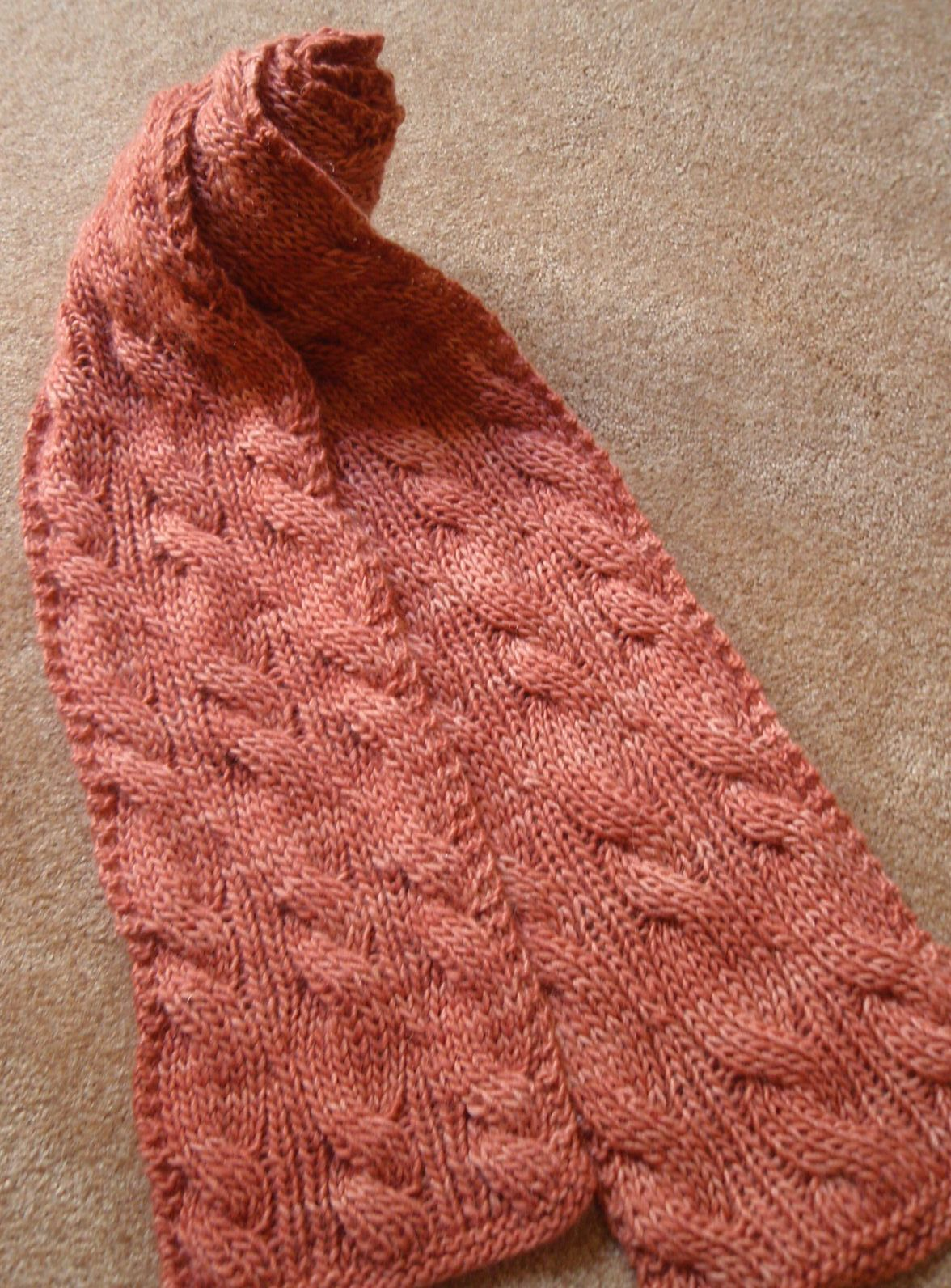 Free Knitting Pattern for Reversible Rivulet Scarf | Tejido ...