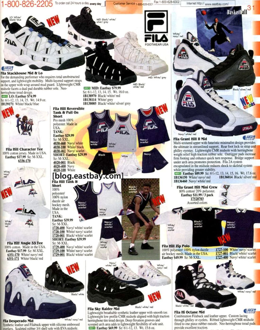 28b1d871ca46 25 Classic Sneakers From Vintage Eastbay CatalogsFila High Octane ...