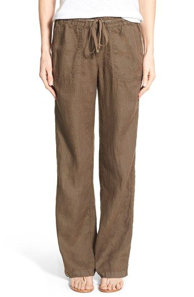 brown linen pants for women - Pi Pants