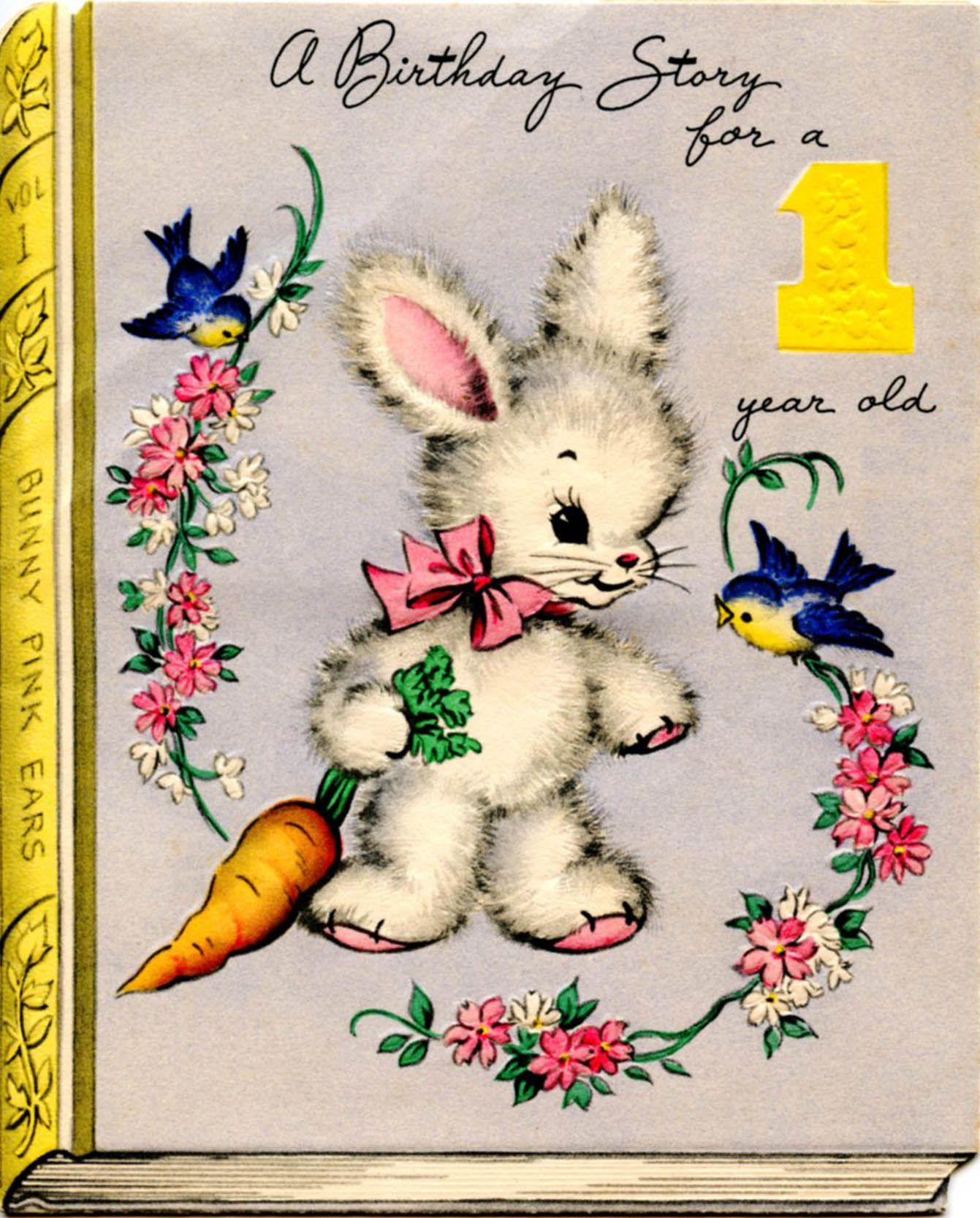 1948 Greetings Inc U.S.A. 1st Birthday Card