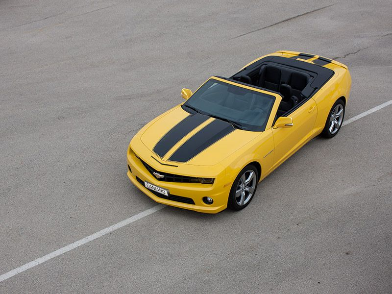 Camaro Convertible in Rally Yellow with Rally Stripes in ...