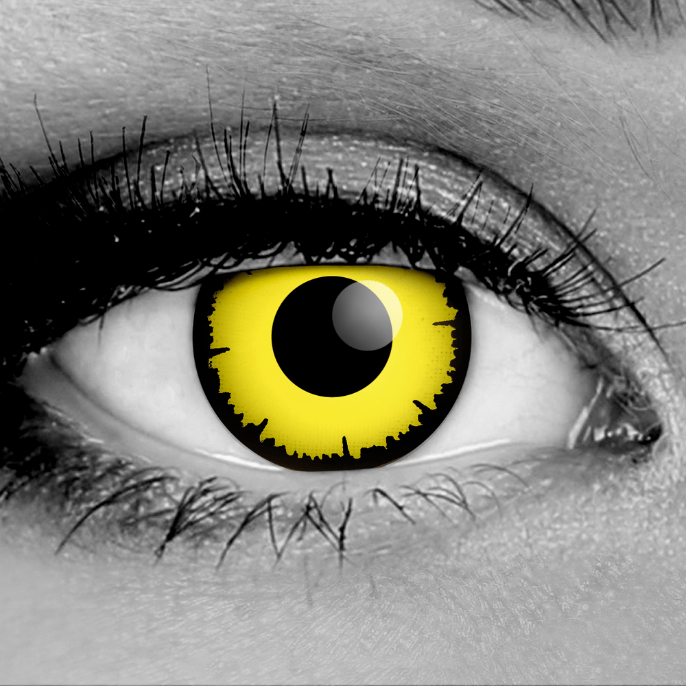Angelic Yellow Fx Contact Lenses Gothika Pair Gothika Lenses Contact Lenses Halloween Contact Lenses Halloween Contacts
