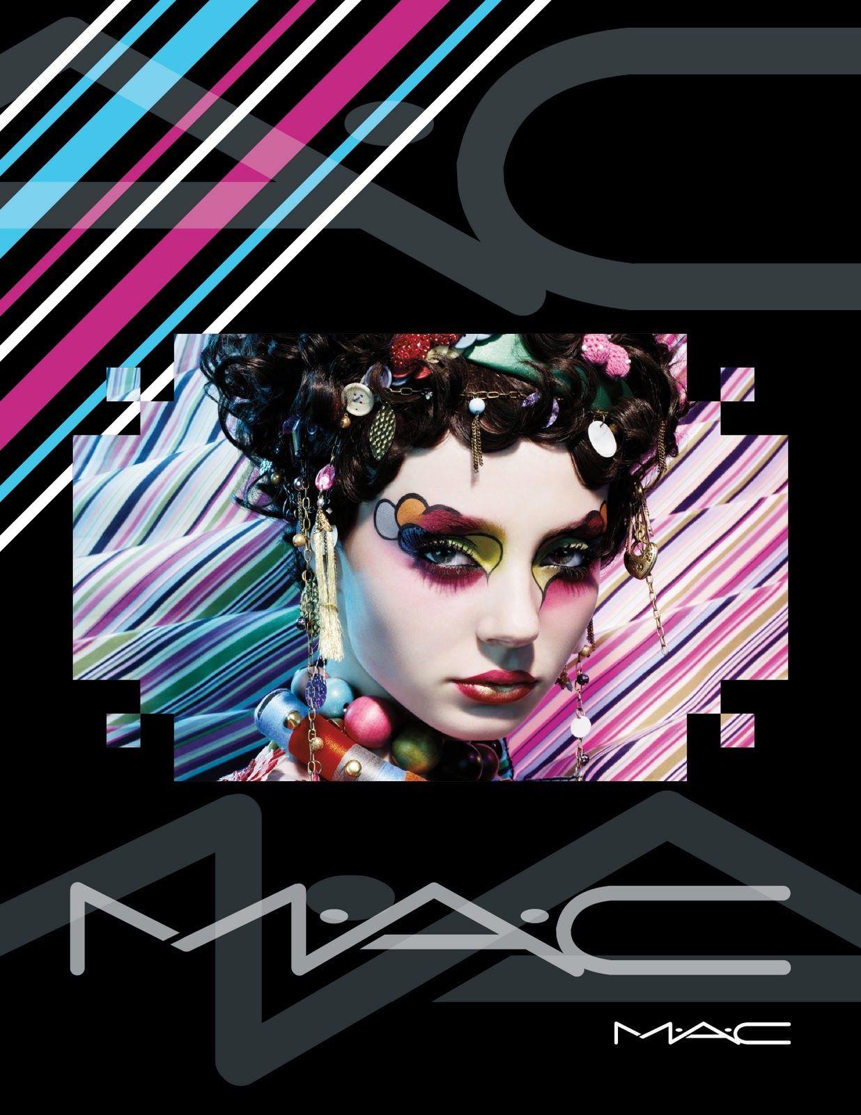 Poster design for mac - Mac Cosmetic Eyeshadow Ad