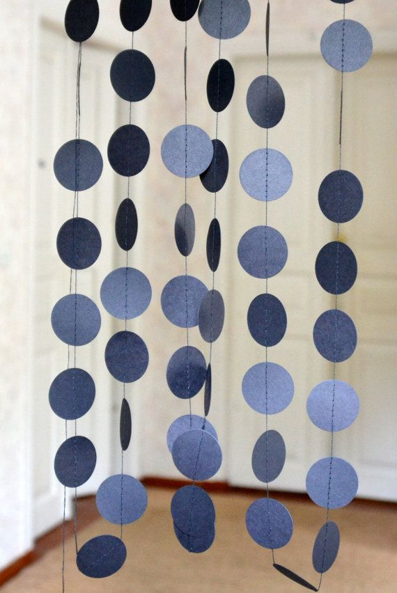 Black circle garland, Halloween garland, Halloween firaplace decorations, Holidays garland,